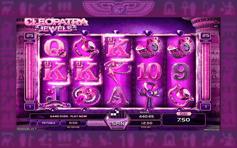 Jewels of Cleopatra slots machine free play
