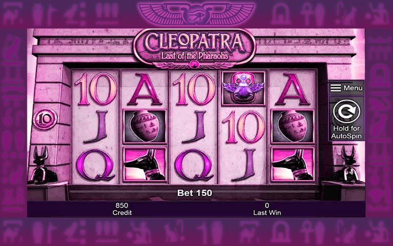 play Cleopatra Last of the Pharaohs slots